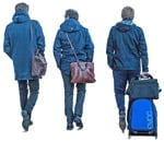 Cut out people - Business Group With A Baggage Walking 0001 | MrCutout.com