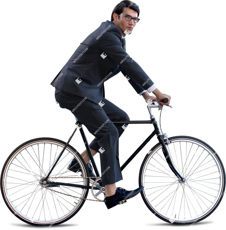 Cut out people - Businessman Cycling 0002 preview