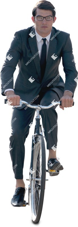 Cut out people - Businessman Cycling 0007 preview