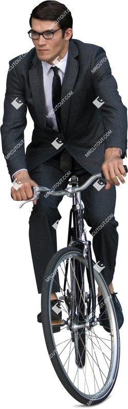 Cut out people - Businessman Cycling 0008 preview