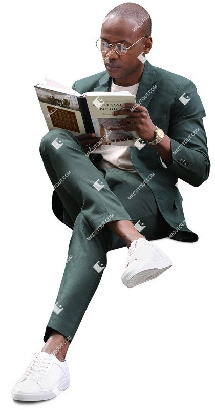 Cut out people - Businessman Reading A Book 0001 preview