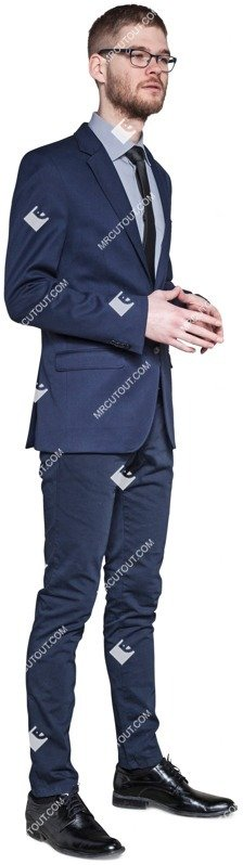 Cut out people - Businessman Standing 0014