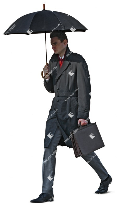 Cut out people - Businessman Walking 0033