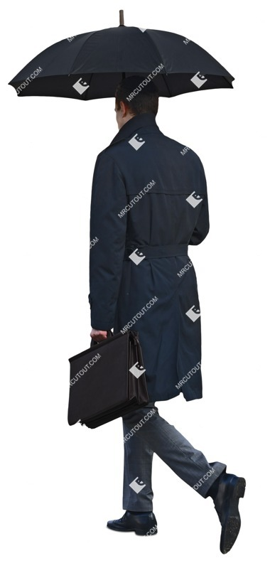 Cut out people - Businessman Walking 0037
