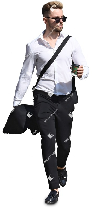 Cut out people - Businessman Walking 0047