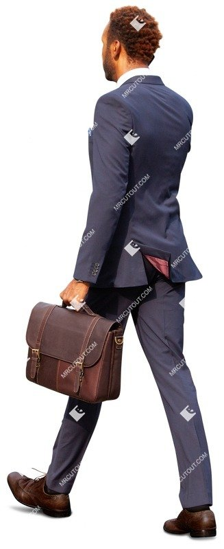 Cut out people - Businessman Walking 0072