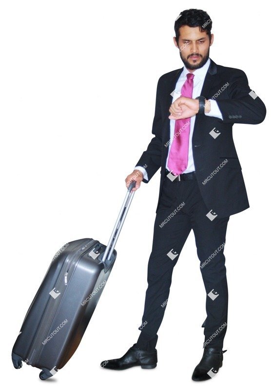 Cut out people - Businessman With A Baggage Standing 0003 preview