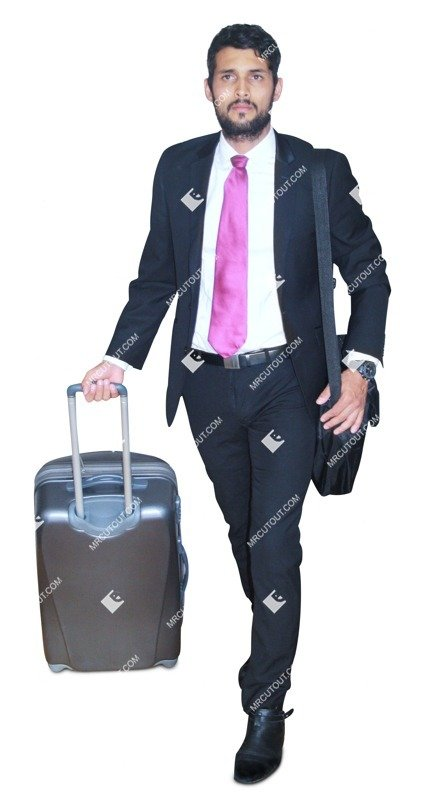 Cut out people - Businessman With A Baggage Walking 0004 preview