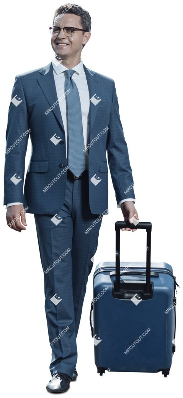 Cut out people - Businessman With A Baggage Walking 0005 preview