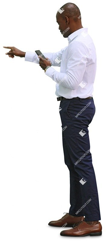 Cut out people - Businessman With A Smartphone Standing 0019