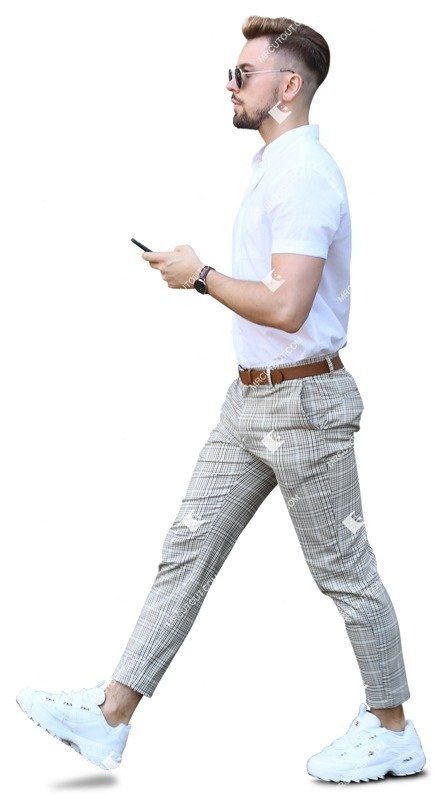 Cut out people - Businessman With A Smartphone Walking 0021 preview