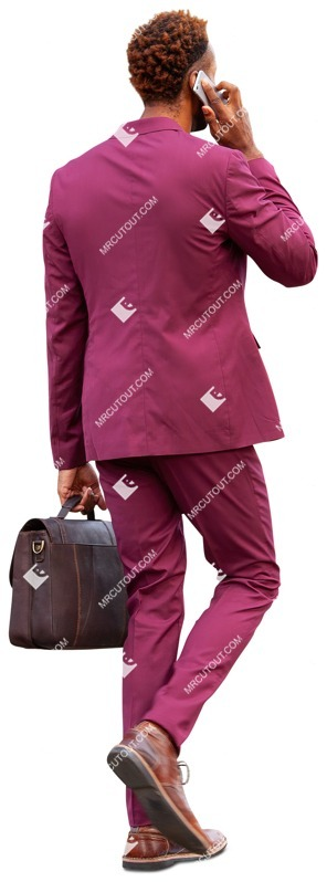 Cut out people - Businessman With A Smartphone Walking 0030