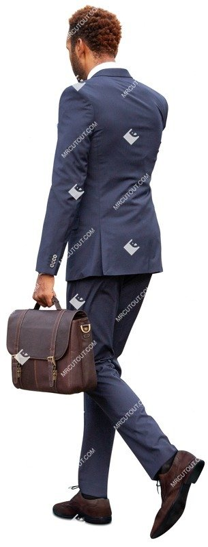 Cut out people - Businessman With A Smartphone Walking 0036