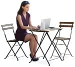 Cut out people - Businesswoman Sitting 0024 | MrCutout.com
