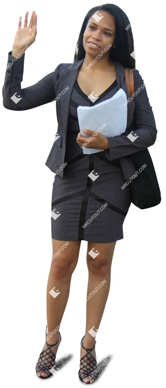 Cut out people - Businesswoman Standing 0007 preview
