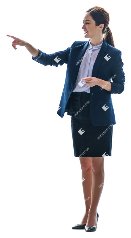 Cut out people - Businesswoman Standing 0025 preview