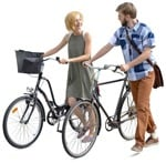 Cut out people - Couple Cycling 0002 | MrCutout.com