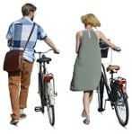 Cut out people - Couple Cycling 0004 | MrCutout.com