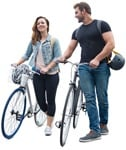 Cut out people - Couple Cycling 0005 | MrCutout.com