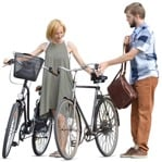 Cut out people - Couple Cycling 0009 | MrCutout.com