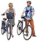 Cut out people - Couple Cycling 0010 | MrCutout.com