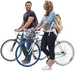 Cut out people - Couple Cycling 0013 | MrCutout.com