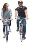 Cut out people - Couple Cycling 0015 | MrCutout.com