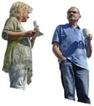 Cut out people - Couple Drinking Coffee 0007 | MrCutout.com