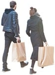 Cut out people - Couple Shopping 0006 | MrCutout.com
