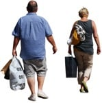 Cut out people - Couple Shopping 0008 | MrCutout.com