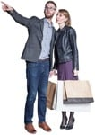 Cut out people - Couple Shopping 0009 | MrCutout.com