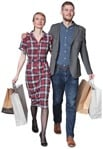 Cut out people - Couple Shopping 0010 | MrCutout.com