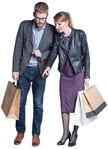 Cut out people - Couple Shopping 0011 | MrCutout.com
