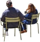 Cut out Couple Sitting 0026 | MrCutout.com
