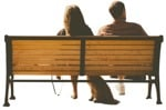 Cut out Couple Sitting 0031 | MrCutout.com