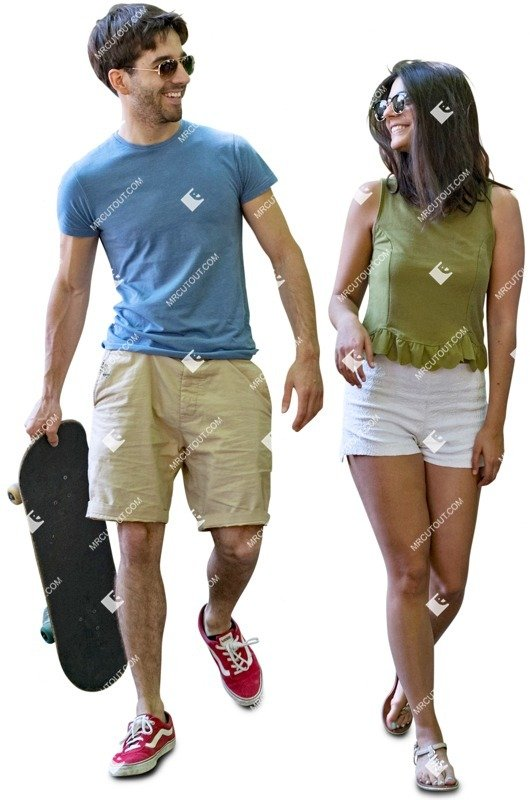 Cut out people - Couple Walking 0011