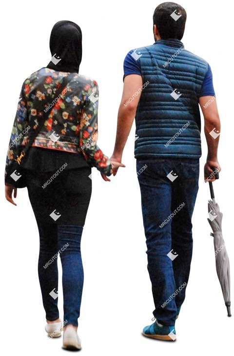 Cut out people - Couple Walking 0017 preview