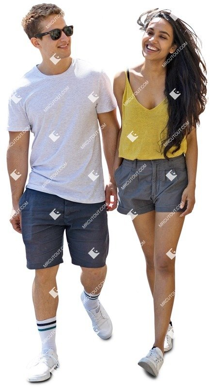 Cut out people - Couple Walking 0033 preview