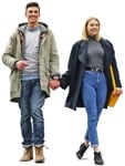 Cut out people - Couple Walking 0034 | MrCutout.com