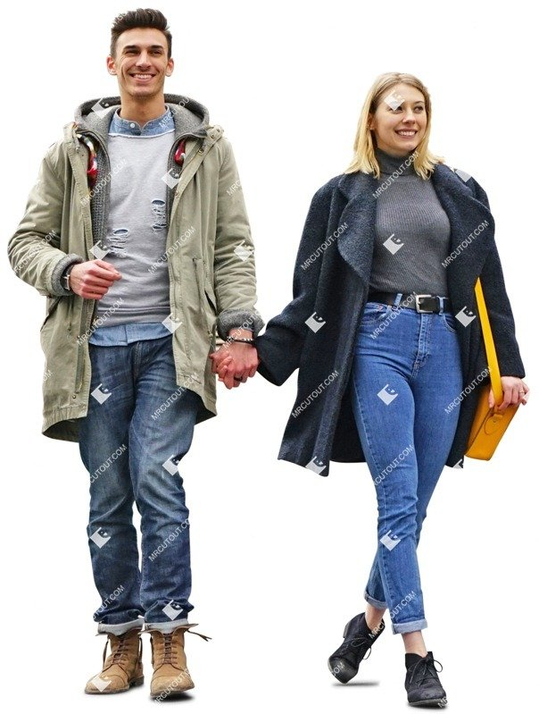 Cut out people - Couple Walking 0034 preview