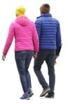 Cut out people - Couple Walking 0036 | MrCutout.com