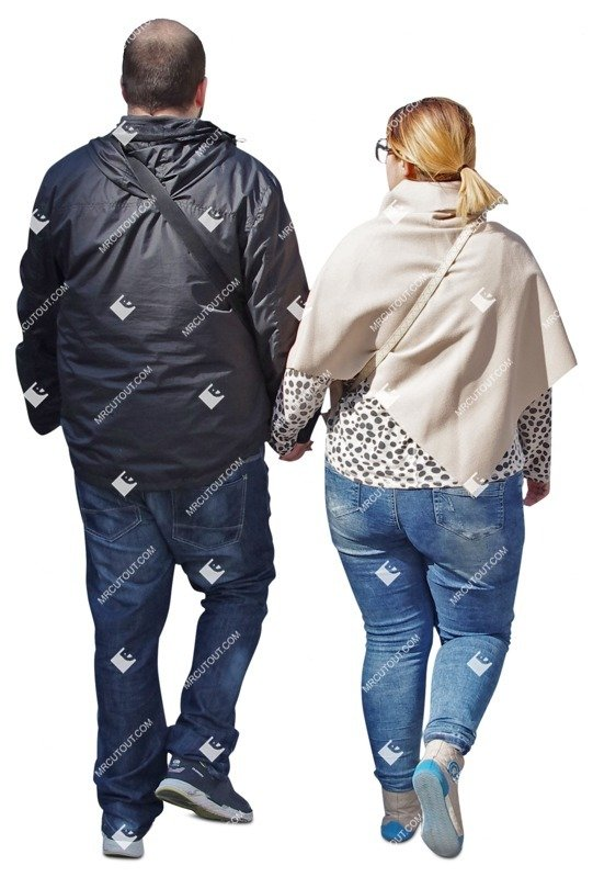 Cut out people - Couple Walking 0038 preview