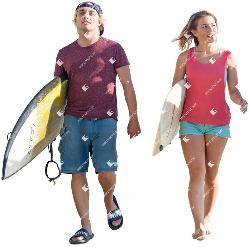 Cut out people - Couple Walking 0049 preview