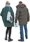 Cut out people - Couple Walking 0051 | MrCutout.com