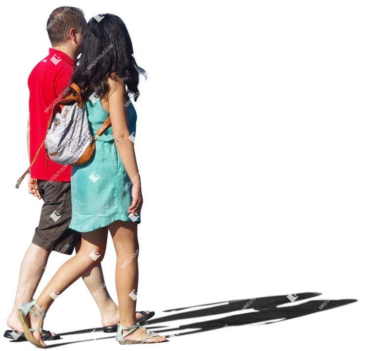 Cut out people - Couple Walking 0078