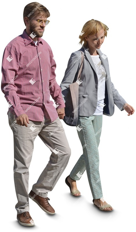 Cut out people - Couple Walking 0087 preview