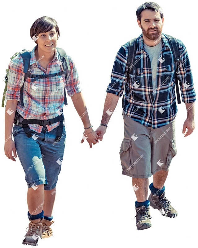 Cut out people - Couple Walking 0097 preview