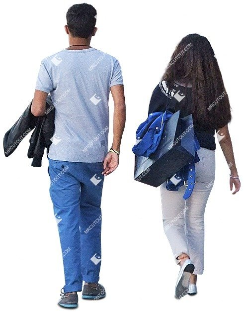 Cut out people - Couple Walking 0104 preview