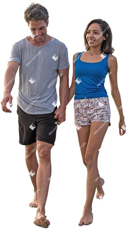 Cut out people - Couple Walking 0108 preview