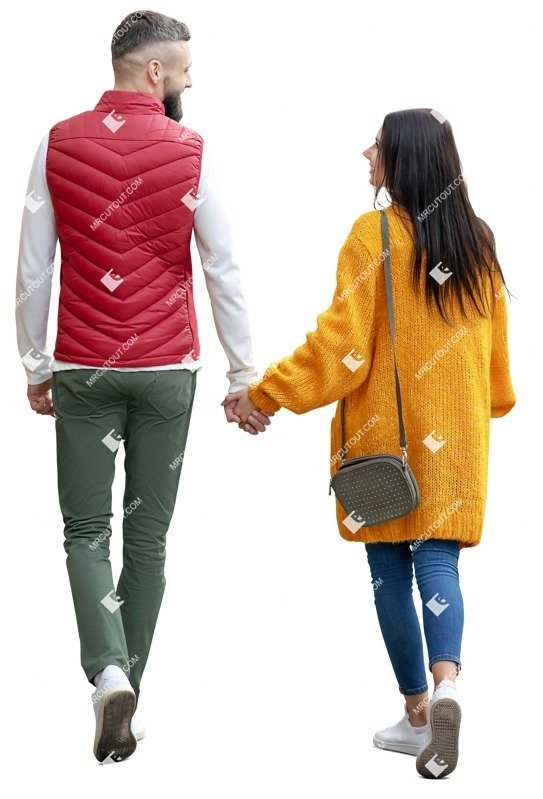 Cut out people - Couple Walking 0125 preview